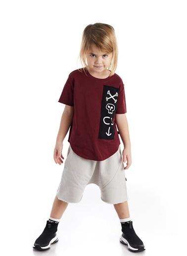 Colorinas Oversize Patch T-Shirt Bordo